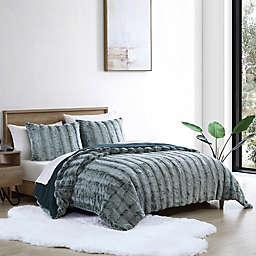 UGG® Landers Faux Fur 2-Piece Twin Comforter Set in Ocean