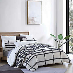 UGG® Blasdale 2-Piece Twin Comforter Set in Snow/Charcoal