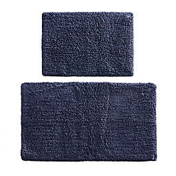 Madison Park Signature Ritzy Bath Rug Set in Navy (Set of 2)