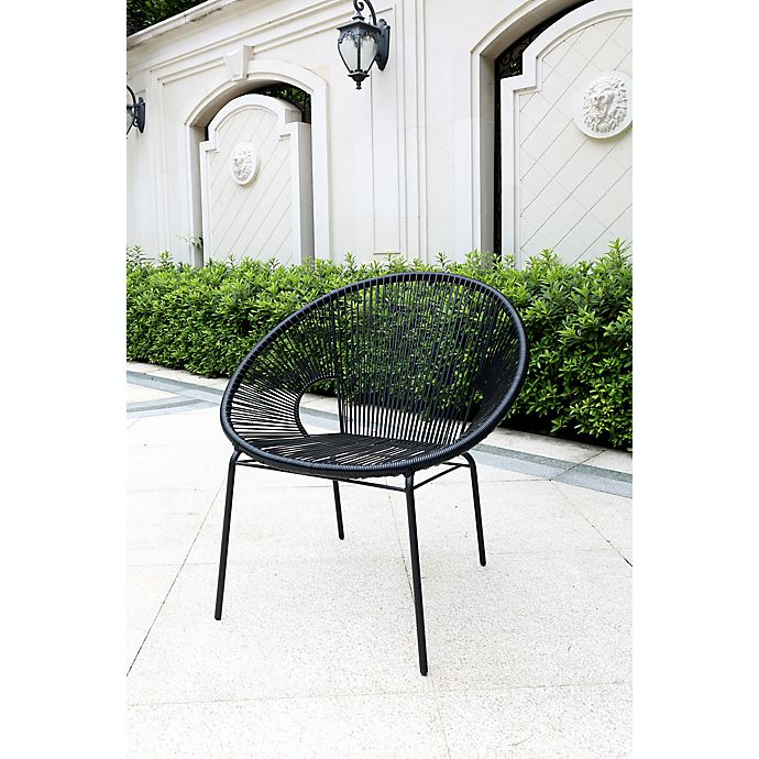 Alternate image 1 for Destination Summer Outdoor Round String Chair in Black