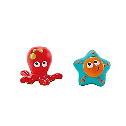 Hape 2-Piece Ocean Floor Squirter Bath Toy Set in Red/Blue