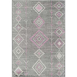 CosmoLiving Bodrum Native Area Rug in Blush/Grey
