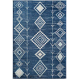 CosmoLiving Bodrum Native Area Rug in Blue