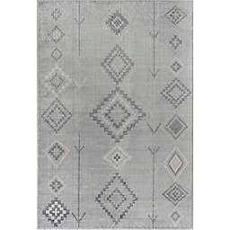 CosmoLiving Bodrum Native Area Rug in Fog Grey