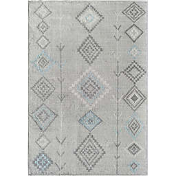 CosmoLiving Bodrum Native Area Rug in Grey