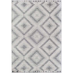CosmoLiving Bodrum Kilim Area Rug in Silver/Grey