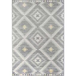 CosmoLiving Bodrum Kilim Area Rug in Grey