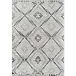 CosmoLiving Bodrum Kilim Area Rug in White/Grey