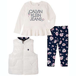 Calvin Klein 3-Piece Vest, Shirt and Pant Set in White