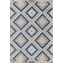 CosmoLiving Bodrum Sunset Area Rug in Grey/Blue