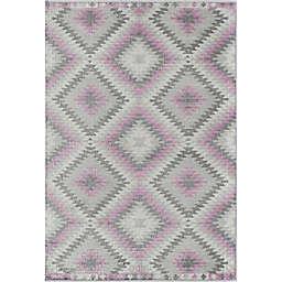CosmoLiving Bodrum Taffy Area Rug in Grey/Pink