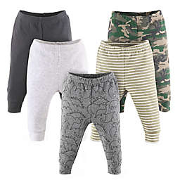 The Peanutshell™ Size 3-6M 5-Pack Dino Pants in Camo