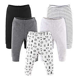 The Peanutshell™ Size 6-9M 5-Pack Animal Pants in Grey