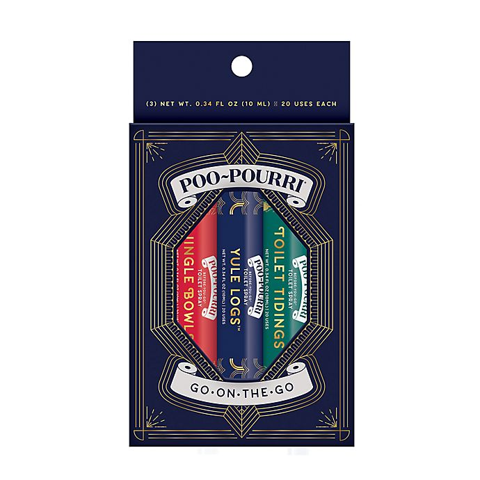 Alternate image 1 for Poo-Pourri® Before-You-Go® Go-On-The-Go Holiday 3-Pack Toilet Spray Set