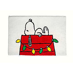 "Peanuts™ Be Merry 20"" x 30"" Bath Rug in White"