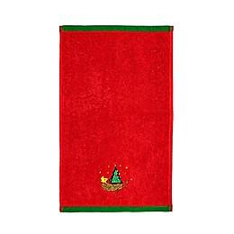 Peanuts™ Be Merry Fingertip Towel in Red
