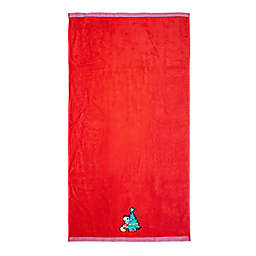 Disney® Fa La La Bath Towel in Red