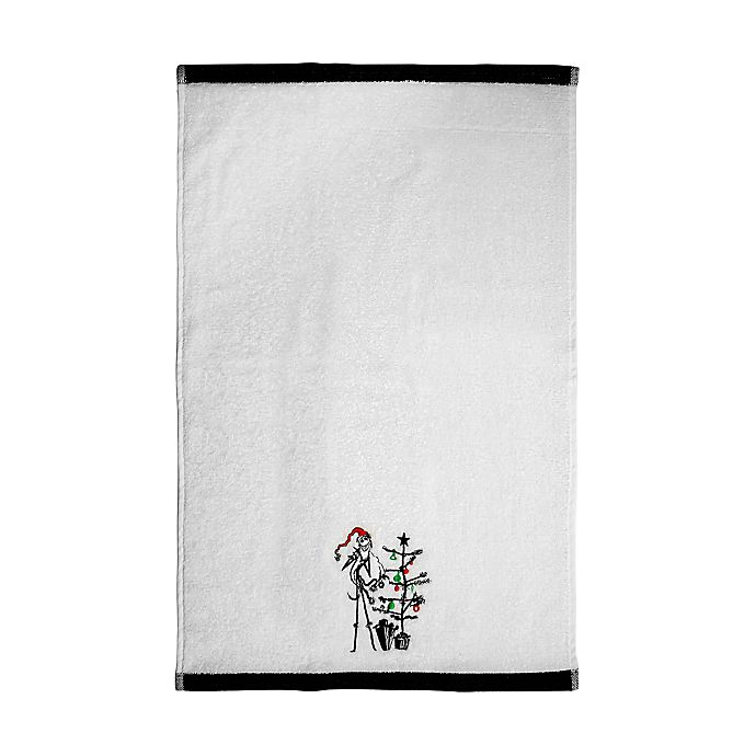 Alternate image 1 for Disney® The Nightmare Before Christmas Hand Towel in White