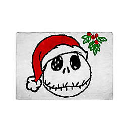 "Disney® The Nightmare Before Christmas 20"" x 30"" Bath Rug in White"