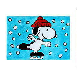 "Peanuts™ Wonderland 20"" x 30"" Bath Rug in Blue"