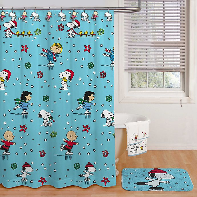 Alternate image 1 for Peanuts™ Wonderland 72-Inch by 72-Inch Shower Curtain with Hooks