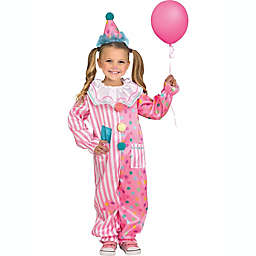 Cotton Candy Clown Toddler Halloween Costume