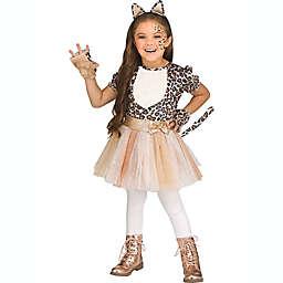 Leopard Toddler Girl's Halloween Costume in Rose Gold