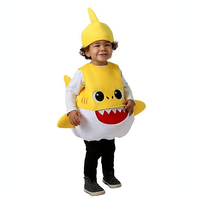 Alternate image 1 for Pinkfong Feed Me Baby Shark Toddler Extra Small Halloween Costume in Yellow
