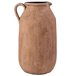Home Essentials & Beyond Decorative Terra Cotta Pitcher with White Wash