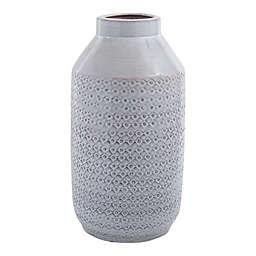 Home Essentials & Beyond 16.93-Inch Hand-Thrown Ceramic Decorative Vase in Off-White