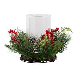 Holiday Wreath Hurricane Centerpiece