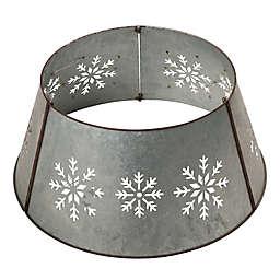 Glitzhome® Snowflake Die Cut Metal Tree Collar in Silver