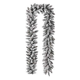 Glitzhome® 9-Foot LED Christmas Garland in Green