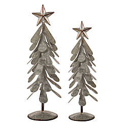 Giltzhome® Tabletop Christmas Trees in Silver (Set of 2)
