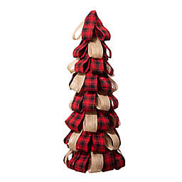 Glitzhome® 22.44-Inch Burlap Tabletop Christmas Tree in Red