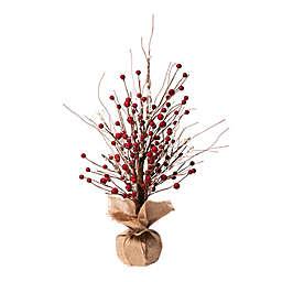 Glitzhome® 16-Inch Berry Christmas Tree Tabletop Decor