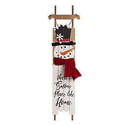 Glitzhome® 42-Inch Snowman Holiday Porch Sign