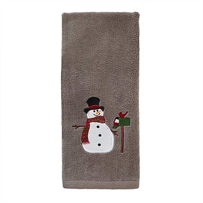 Alternate image 1 for Snowman Mailbox Hand Towels (Set of 2)