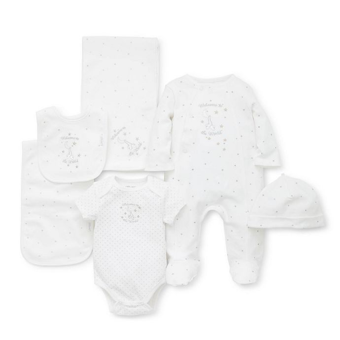 Alternate image 1 for Little Me® 6-Piece Welcome To The World Gift Box in White