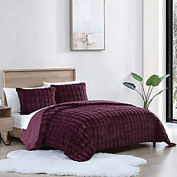 UGG® Bella 2-Piece Twin Duvet Cover Set in Carbernet