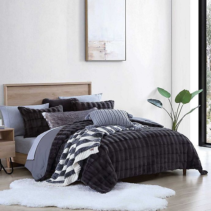 Alternate image 1 for UGG® Bella 3-Piece Full/Queen Comforter Set in Charcoal