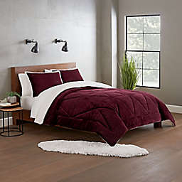 UGG® Avery 2-Piece Reversible Twin/Twin XL Comforter Set in Cabernet