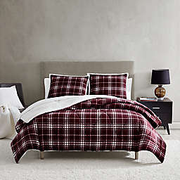 UGG® Avery 2-Piece Reversible Twin/Twin XL Comforter Set in Cabernet/Plaid