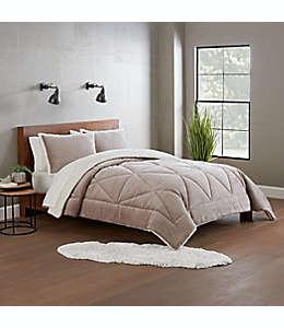 Set de edredón king de poliéster UGG® Avery color beige