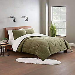 UGG® Avery 3-Piece Reversible King Comforter Set in Moss Melange