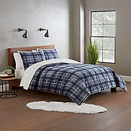 UGG® Avery 3-Piece Reversible Full/Queen Comforter Set in Pacific Blue Plaid