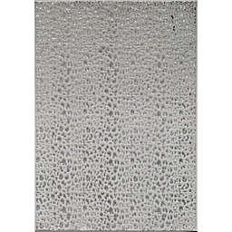 CosmoLiving Hazel Snow Leopard Rug in White