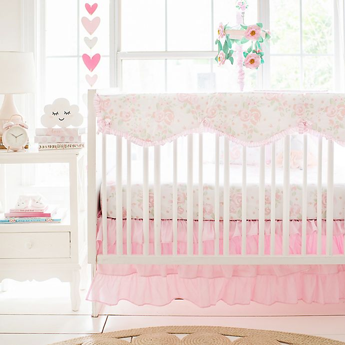 Alternate image 1 for My Baby Sam Wildflower 9-Piece Crib Bedding Set in Pink/White