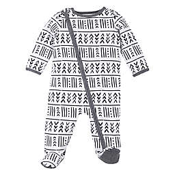 Lamaze® Size 3M Foreign Tribal Organic Cotton Footie in Forest Green