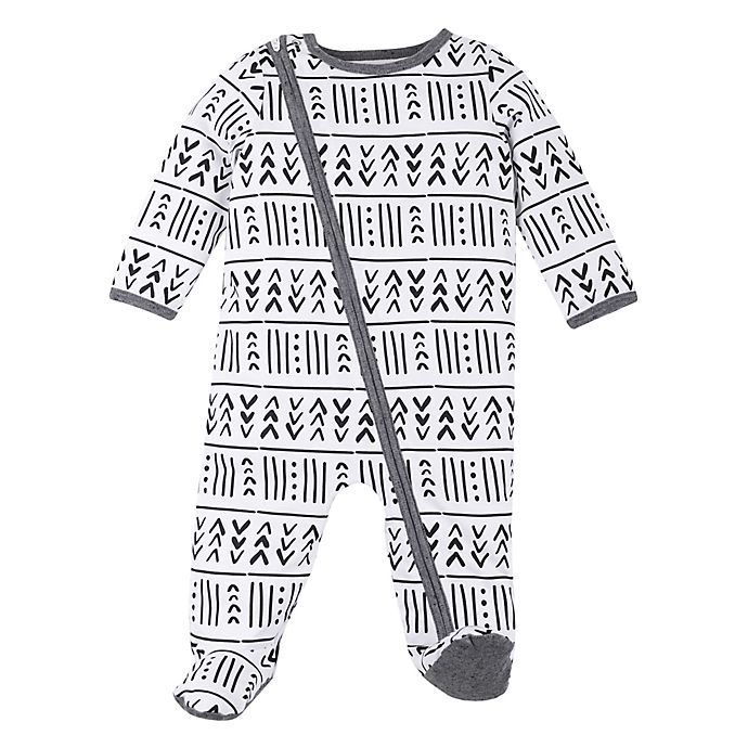 Alternate image 1 for Lamaze® Foreign Tribal Organic Cotton Footie in Forest Green
